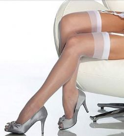 10 Denier Sheer Stockings in Nude,  Black White or Red